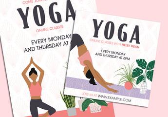 Ornate Yoga on Demand Social Media Set