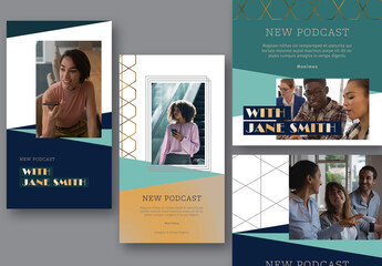 Elegant Podcast Social Media Set