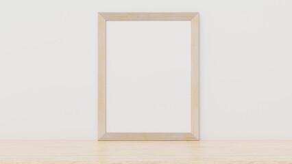 Photo frame mockup on table