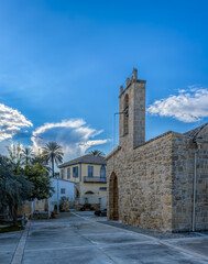 Belltower of the Panagia Chrysaliniotissa (Our Lady of the Golden Flax) church, which is believed to be the oldest Byzantine church in Nicosia (Lefkosia), Cyprus.