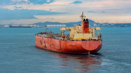 Oil products tanker approaching to Pengerang Deepwater Petroleum Terminal.