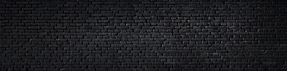 Foto op Canvas Wand Texture of a black painted brick wall as a background or wallpaper