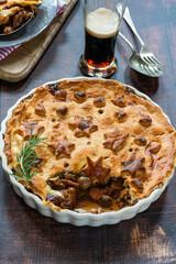 Steak, mushroom and ale pie