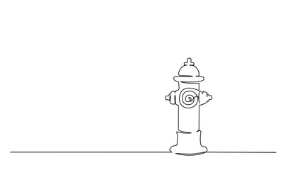 Hydrant or fireplug isolated One line drawing