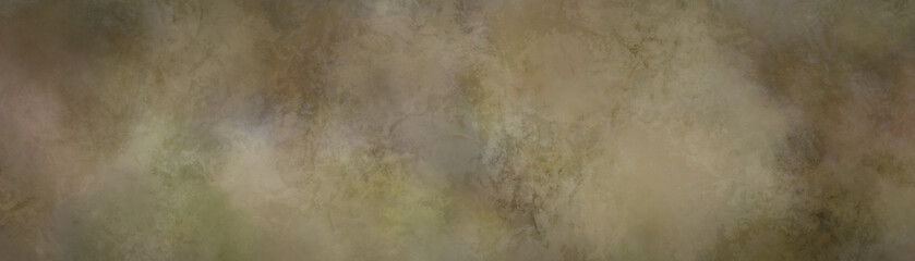 Wall Mural - brown background texture with white and beige marbled abstract grunge, old vintage paper or metal textured border design, antique distressed panoramic illustration