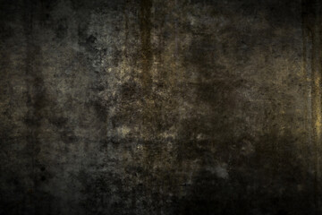 Grungy black wall as background or texture