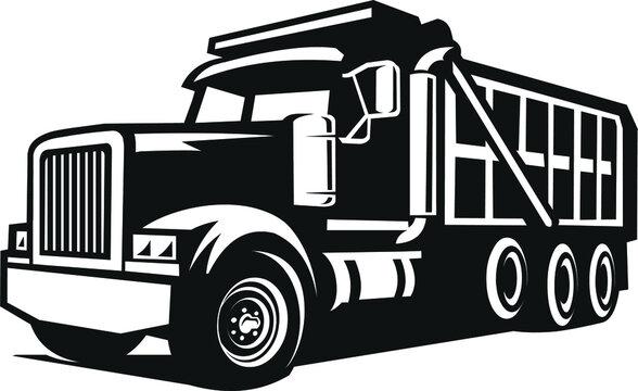 bold dump truck vector images