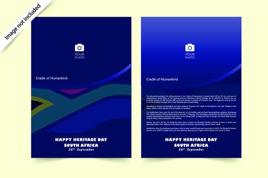 Heritage day south Africa (Leaflet design)