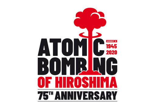 Logo for the 75th anniversary of Atomic Bombing of Hiroshima