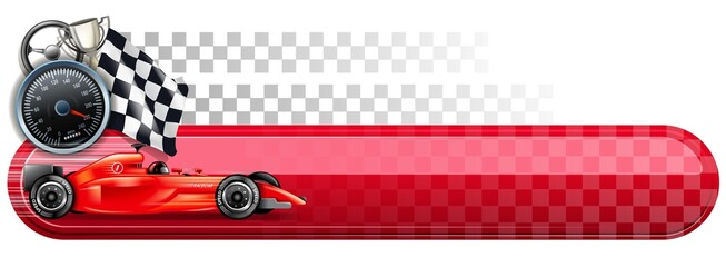 Foto op Plexiglas F1 motorsport finish banner