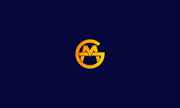 Alphabet letter icon symbol monogram logo GM or MG