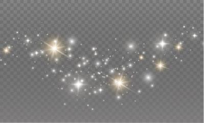 Fototapeta Sparkling dust particles. obraz
