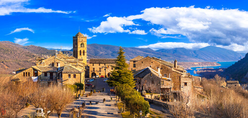 Typical beautiful villages of Spain - Ainsa Sobrarbe ,Huesca province, Pirenei mountains