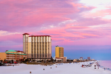 Wall Murals Candy pink gorgeous, colorful sunset in pensacola florida