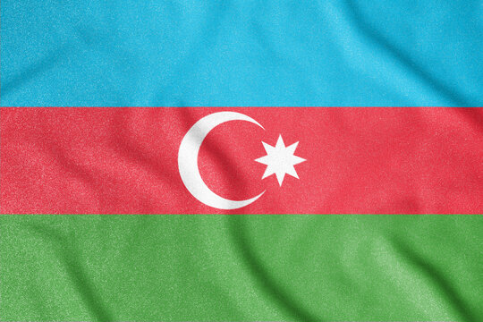 National flag of the Azerbaijan. The main symbol of an independent country. An attribute of the large size of a democratic state.