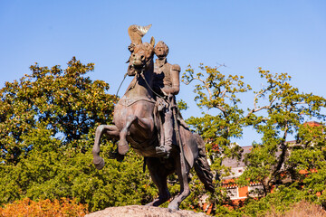 statue of andrew jackson in jackson square in new orleans, louisiana