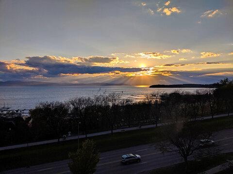 Sunset over Burlington