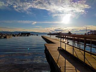 A beautiful sunset image taken in Burlington Vermont down near the docks.