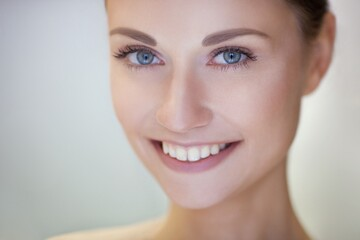 woman, face, glowing, smile