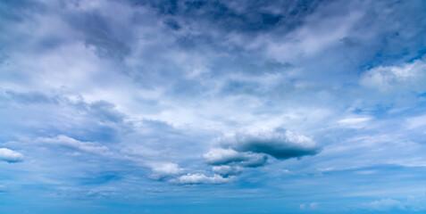 Aluminium Prints Heaven Overcast sky with dark cloud in windy day.