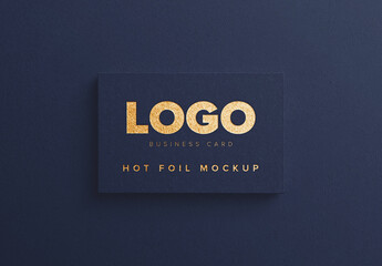 Business Card with Hot Foil Mockup