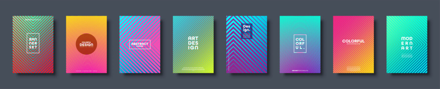 Modern abstract background with geometric shapes and lines. Colorful trendy minimal A4 template cover with gradient. EPS 10 vector illustration.
