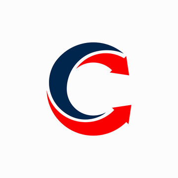 letter c logo with arrow symbol