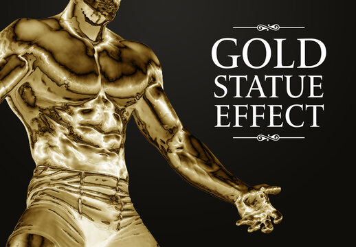 Gold Filter Photo Effect Mockup