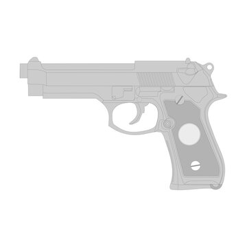 Gun vector illustration, isolation on a white background.