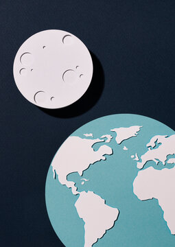 World with moon