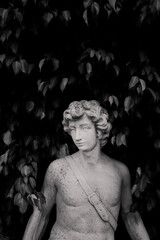 Fotorolgordijn Historisch mon. black and white statue