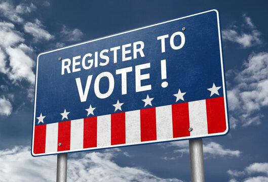 Register to Vote - roadsign information