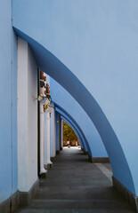 Blue wall detail