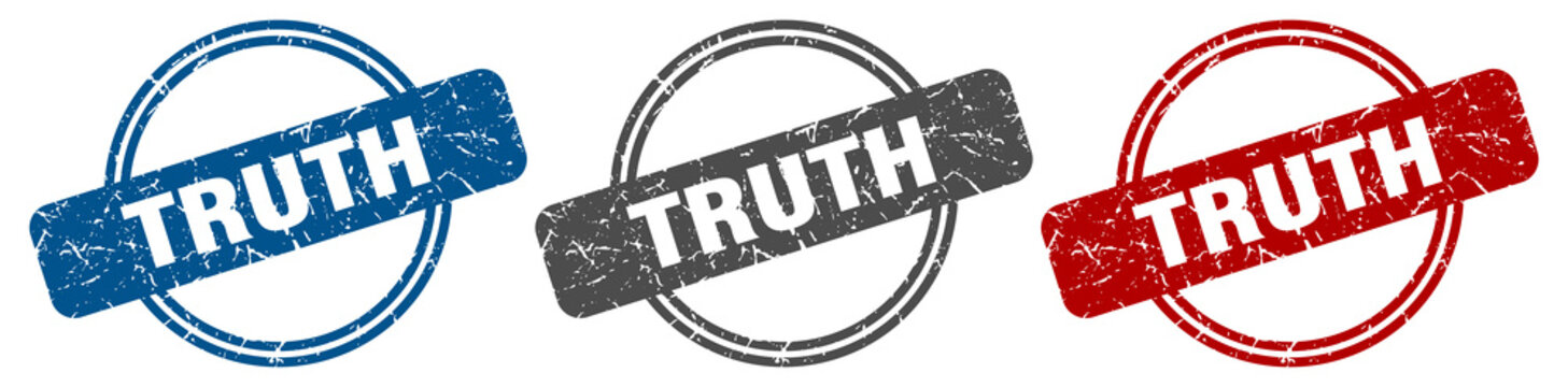 truth stamp. truth sign. truth label set
