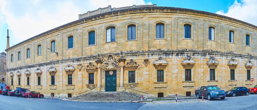 Panorama of Palazzo Manresa, on June 17, 2018 in Floriana, Malta