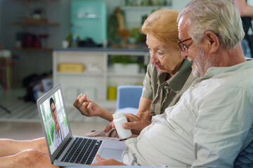 patients at home have medical consult from doctor via telemedicine