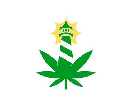 Gentleman hat with cannabis leaf