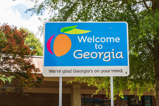 Welcome to Georgia road sign at the Georgia Visitor Center
