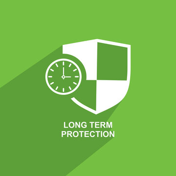 long term protection icon, Business icon vector
