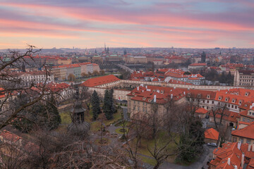 beautiful old streets of Prague.
