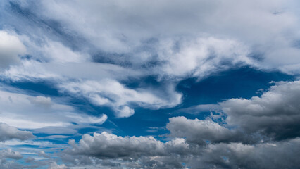 blue sky with cloud closeup in deuchland
