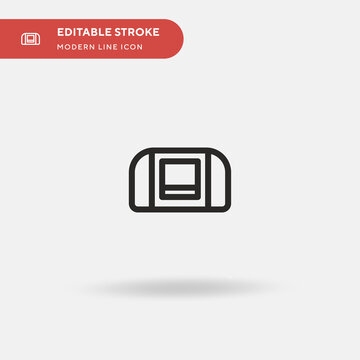 Super Nintendo Simple vector icon. Illustration symbol design template for web mobile UI element. Perfect color modern pictogram on editable stroke. Super Nintendo icons for your business project