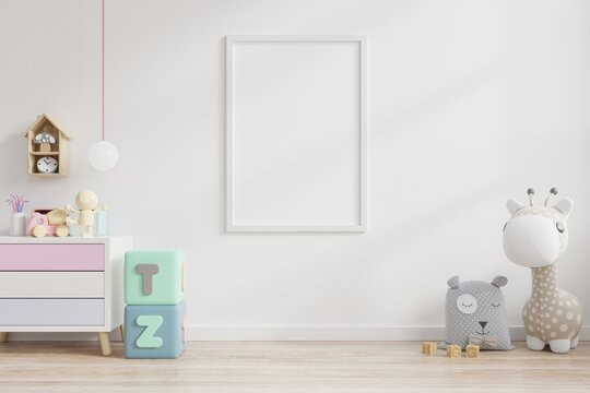 Picture Frame On Wall With Toys At Home