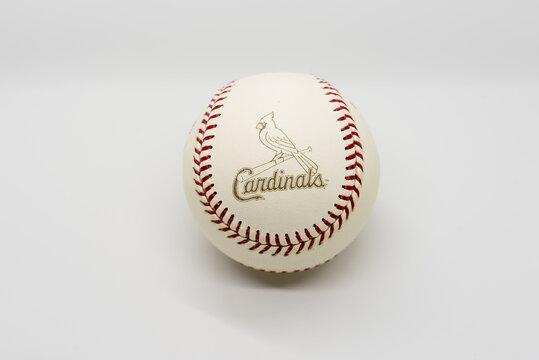 St. Louis Cardinal Logo on the 2006 World Series Baseball Isolated on White. 102nd edition of the World Series Between the St. Louis Cardinals and Detroit Tigers