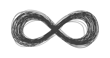 Infinity Sign - The Circle Of Life - Hand Drawn Symbol