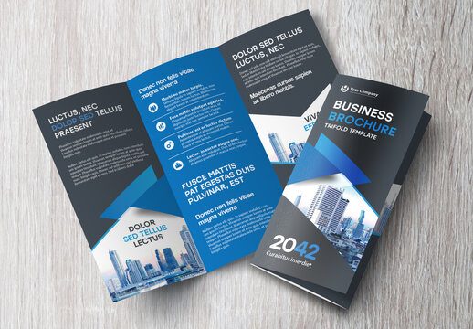 Modern Trifold Brochure Layout
