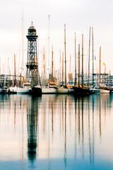 Fototapeta Sailboats In Marina obraz