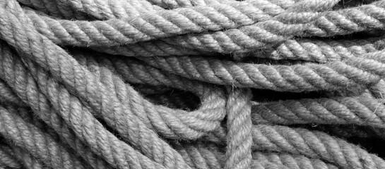 Türaufkleber Schiff close up of a rope knot