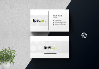 Simple Clean Business Card Layout