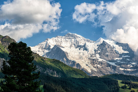 Stunning Swiss Snow Capped Mountains